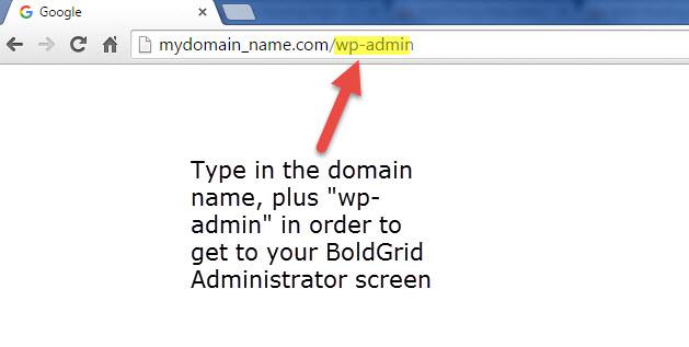 BoldGrid Administrator URL