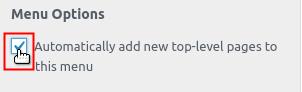 Click to select menu option