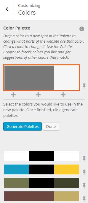 Generate color palettes