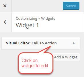 Click on widget to edit