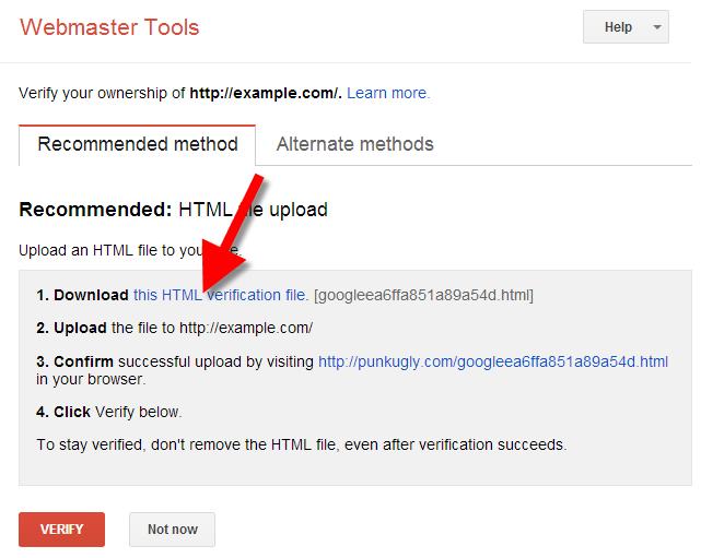 Verifying Webmaster Tools & Google Apps | Web Hosting Hub