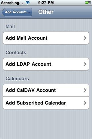 iphone email setup