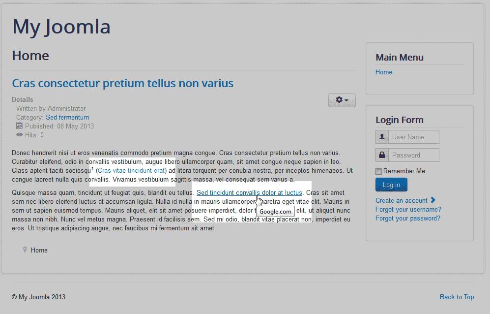 adding pdf to joomla article