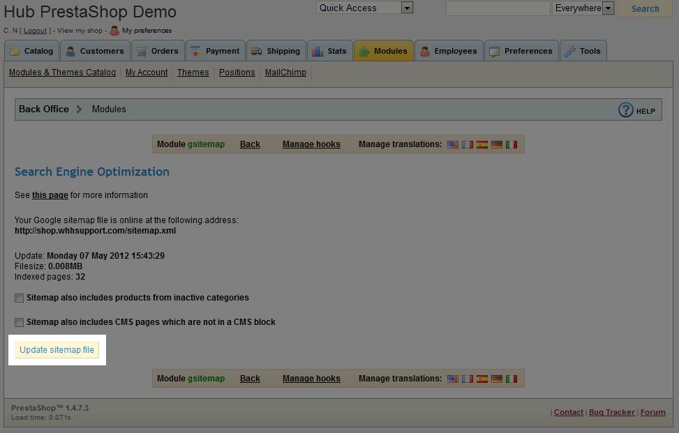 prestashop seo module web hosting hub