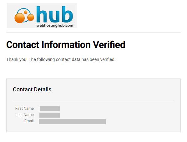 contact info verified