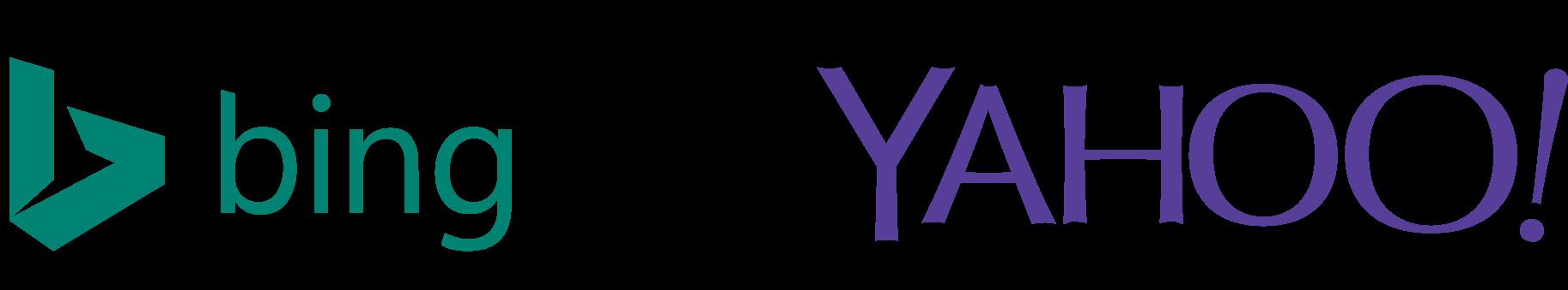 Bing, Yahoo